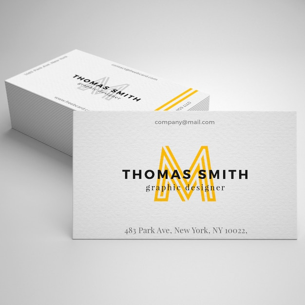 Realistic business card mockup psd file free download realistic business card mockup free psd reheart Images