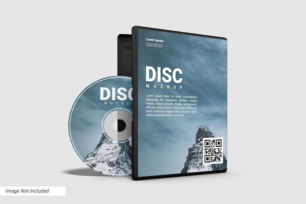 Реалистичный макет компакт-диска и открытого корпуса Premium Psd