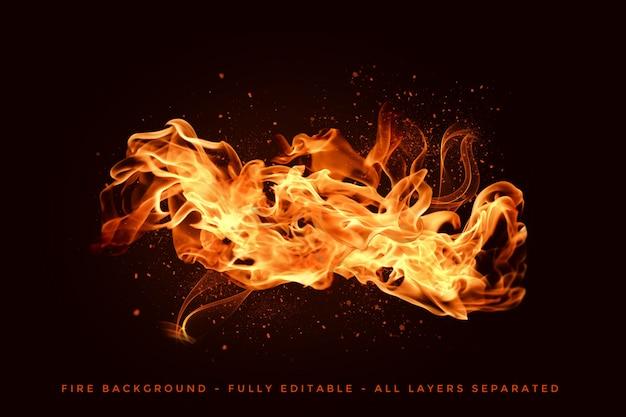 Реалистичное пламя огня Premium Psd