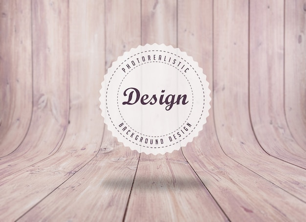 Realistic floorboard background design Free Psd