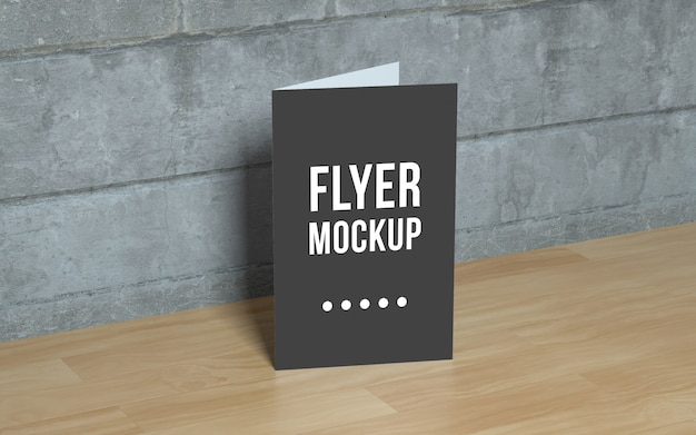 Realistic flyer mockup Free Psd
