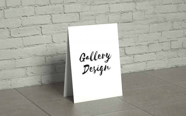 Realistic gallery mockup Free Psd