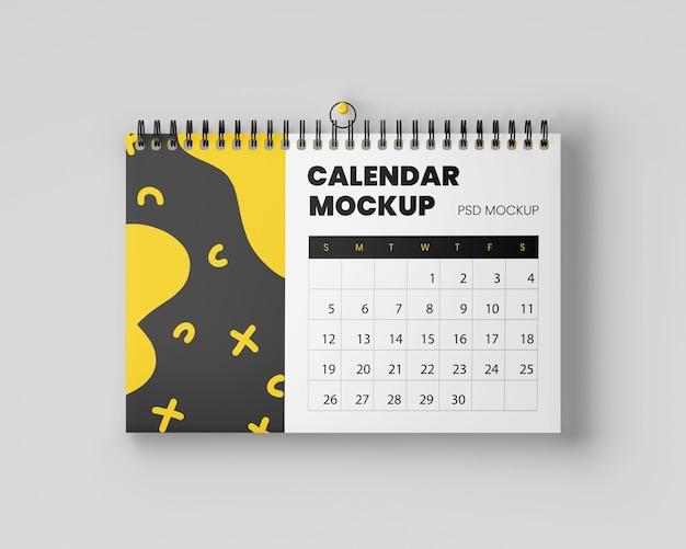Realistic hanging calendar mockup Premium Psd