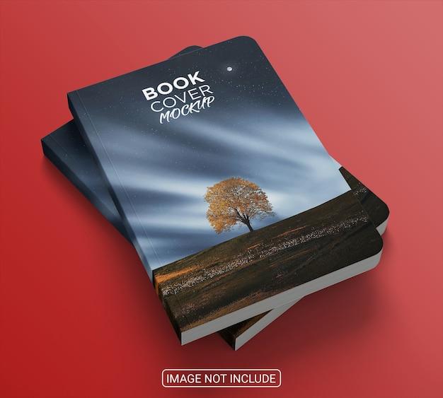リアルなハードカバーの本のモックアップデザイン Premium Psd