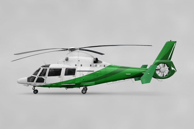 Realistic helicopter mockup Free Psd