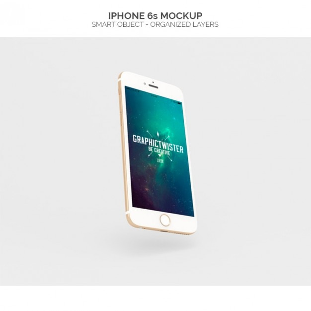 Realistic iphone 6s mock up Free Psd