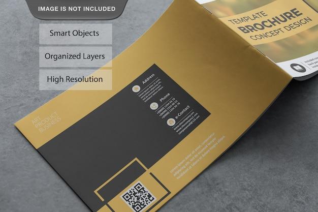 現実的な風景のパンフレットのモックアップ Premium Psd