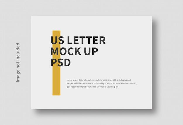 현실적인 편지 수평 최소한의 모형 절연 프리미엄 PSD 파일