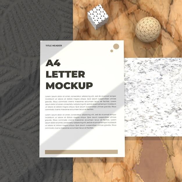 이력서 포스터 및 광고 모형에 대한 현실적인 편지 모형 전단지 프리미엄 PSD 파일