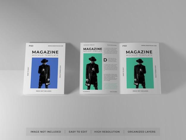 현실적인 잡지 이랑 템플릿 프리미엄 PSD 파일