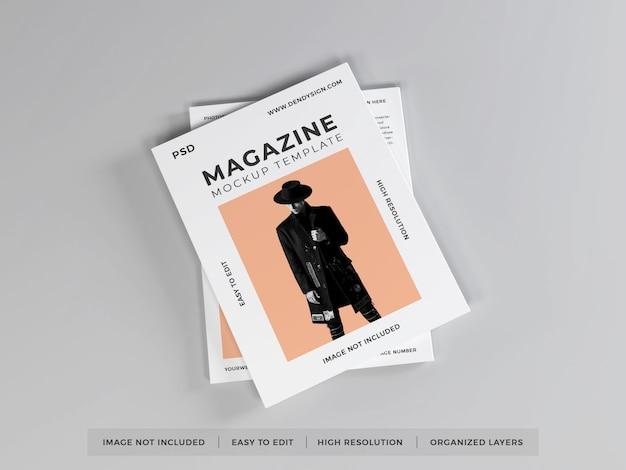 現実的な雑誌のモックアップテンプレート Premium Psd
