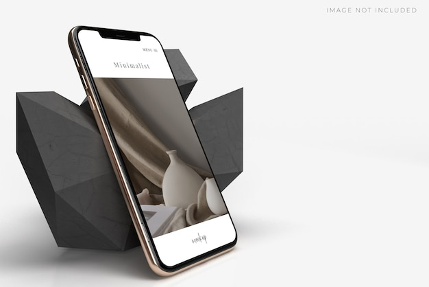 Realistic mobile smartphone mockup scene creator. template for branding identity global business web site design app Premium Psd