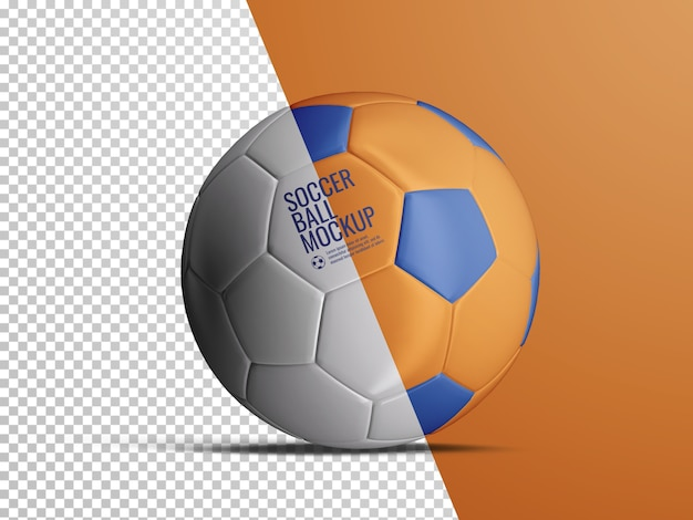 Realistic mockup of isolated soccer football ball Premium Psd