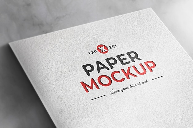 Realistic mockup white texture paper background Premium Psd
