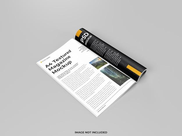 현실적인 오픈 잡지 접힌 모형 프리미엄 PSD 파일