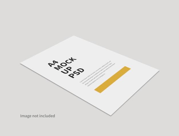 分離された現実的な紙の最小限のモックアップ Premium Psd