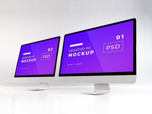 현실적인 개인용 컴퓨터 프리미엄 PSD 파일