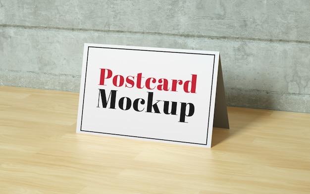 Realistic postcard mockup Free Psd