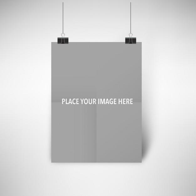 현실적인 포스터를 모의 무료 PSD 파일