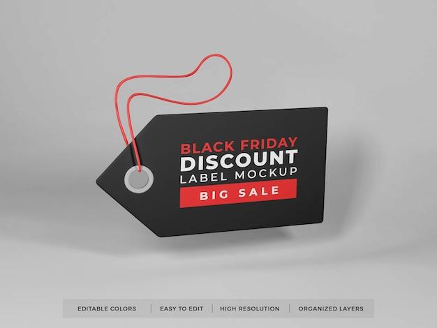 Реалистичный макет ценника Premium Psd