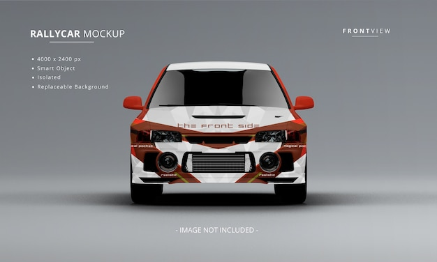 Realistic rally car mockup front view isolated Premium Psd