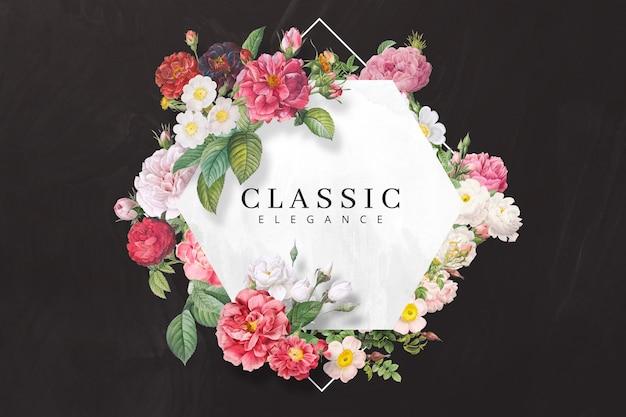 Realistic roses banner template Premium Psd