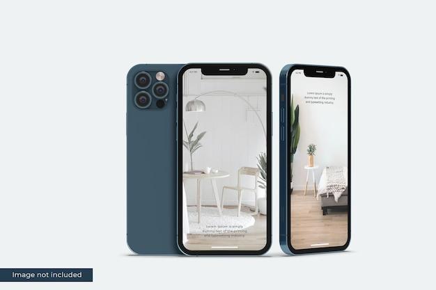 デザインプレゼンテーションのためのリアルなスマートフォンのモックアップ Premium Psd