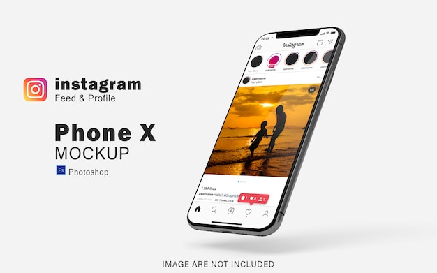 Realistic smartphone mockup for your social media preview Premium Psd