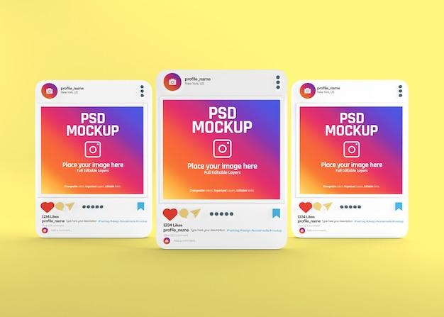 Realistic social media instagram post mockup