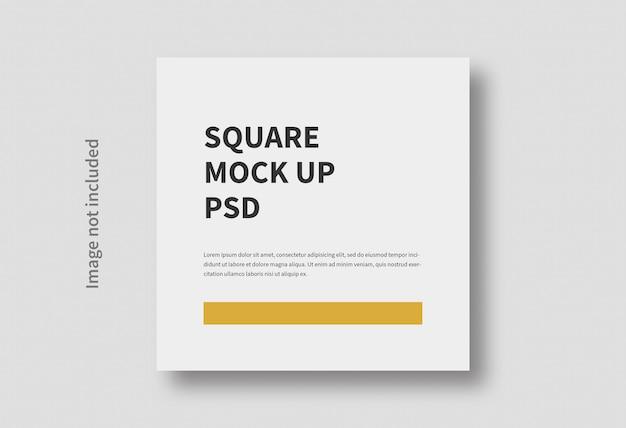 현실적인 사각형 크기 평면 최소한의 모형 절연 프리미엄 PSD 파일