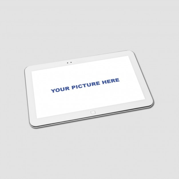 Realistic tablet mockup Free Psd