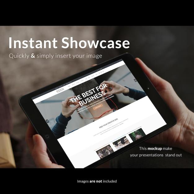 Realistic tablet screen presentation Premium Psd