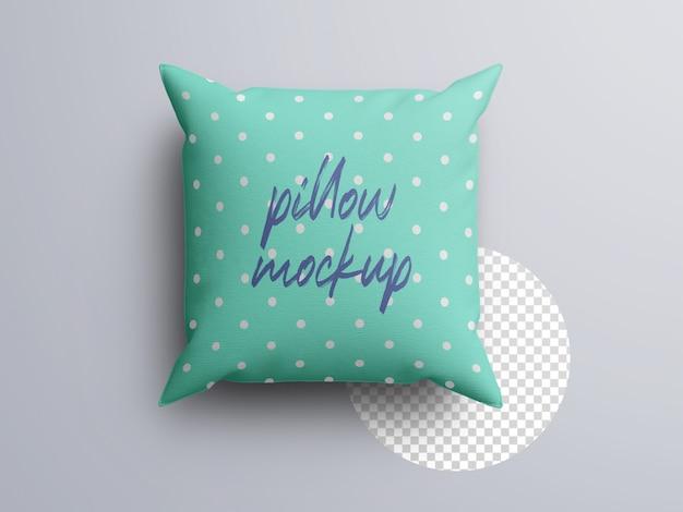 Реалистичный макет подушки из ткани, вид сверху Premium Psd