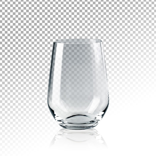 Realistic transparent empty glass of water isolated Premium Psd