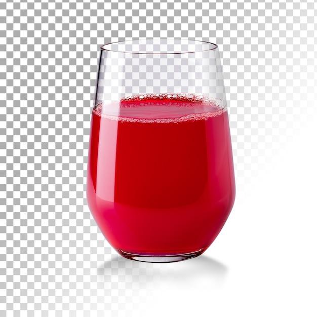 Реалистичные прозрачный стакан красного сока изолированы Premium Psd