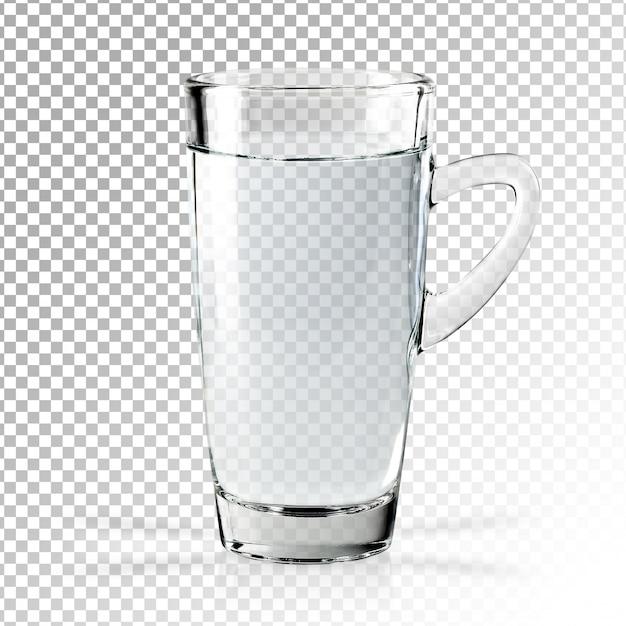 Реалистичный прозрачный стакан воды изолирован Premium Psd