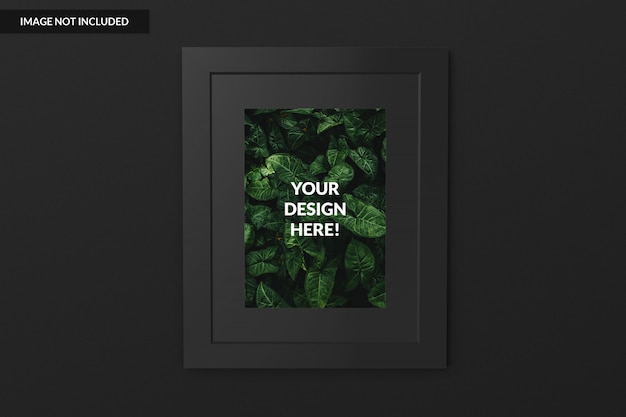 Realistic vertical picture frame Premium Psd