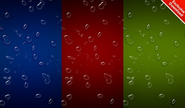 Realistic waterdrops background in  colors   psd included Free Psd