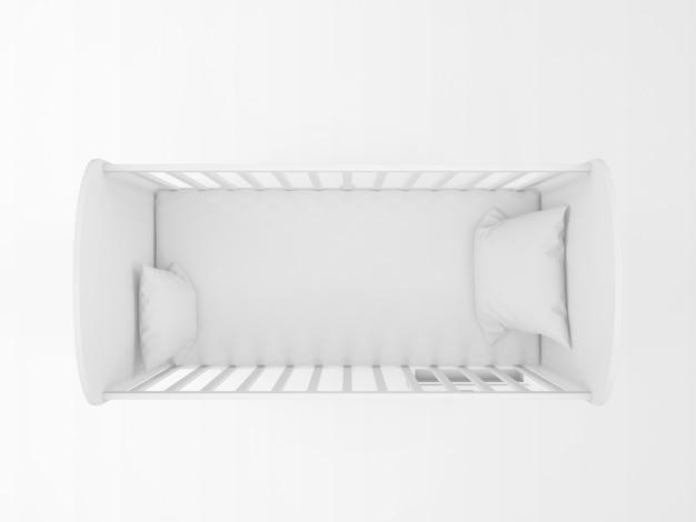 Реалистичная белая колыбель, изолированные на белом на вид сверху Бесплатные Psd