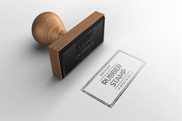Прямоугольная печать логотипа макет Premium Psd