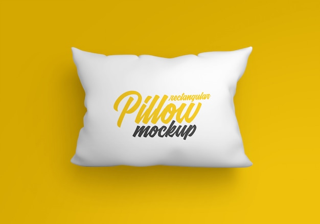 Rectangular pillow mockup Premium Psd