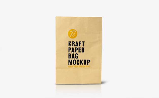 Шаблон макета из переработанного коричневого бумажного пакета для вашего дизайна Premium Psd