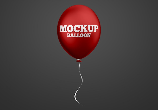 Red balloon mockup Premium Psd
