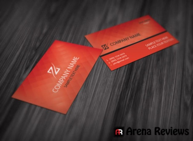 Red Business Card Template With Elegant Texture Psd File Free Download