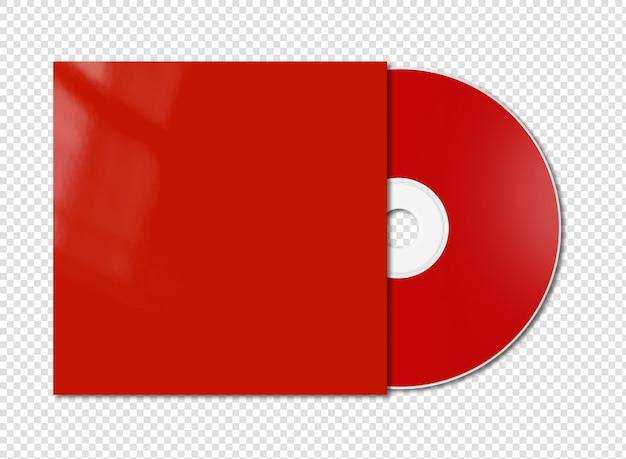 Красный cd - dvd макет изолированы Premium Psd