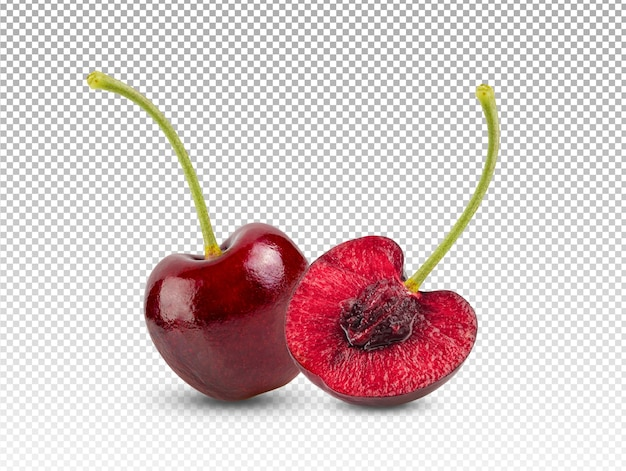 Red cherries isolated Premium Psd