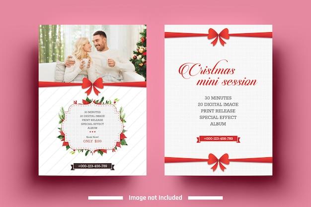 Red Christmas Mini Session Template Premium Psd