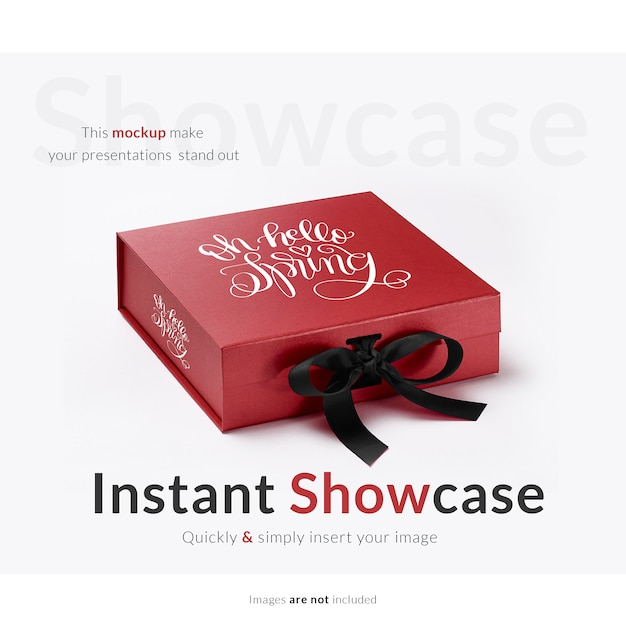 red gift box mock up 1307 589