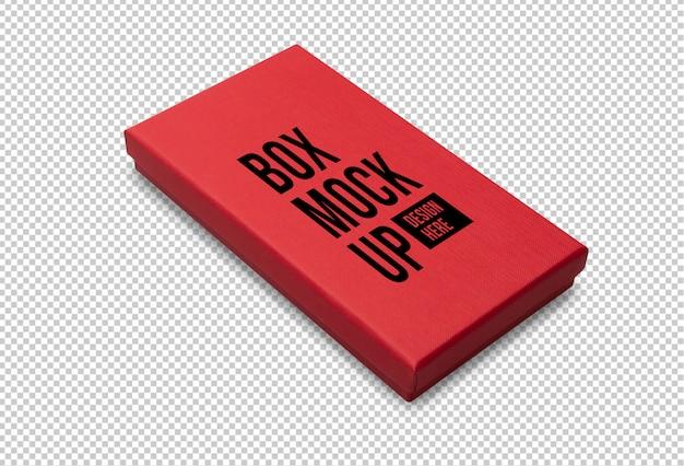 あなたのデザインの赤いギフトボックスモックアップテンプレート Premium Psd