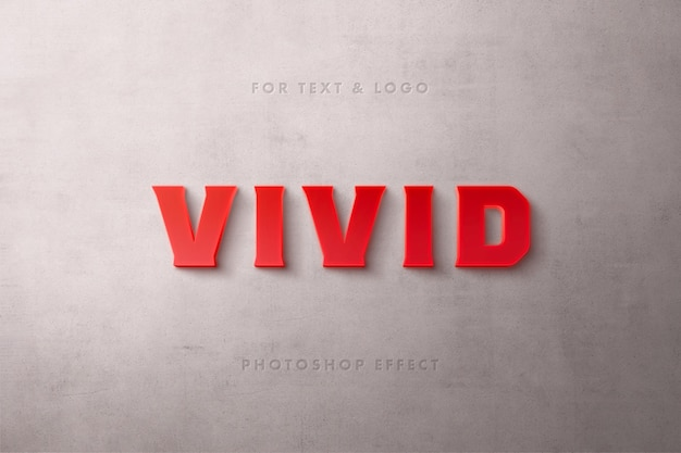Red matte text effect Premium Psd